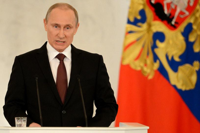 Władimir Putin wygłasza orędzie /AFP