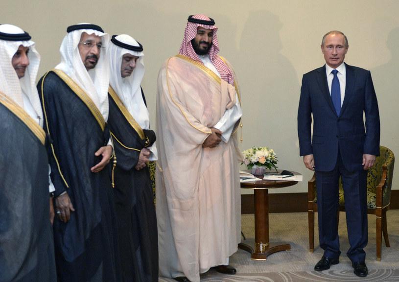 Władimir Putin z saudyjską delegacją /AFP