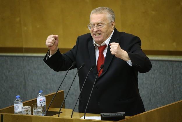 Władimir Żyrinowski, lider LDPR . Fot. Michaił Swietłow /Getty Images/Flash Press Media
