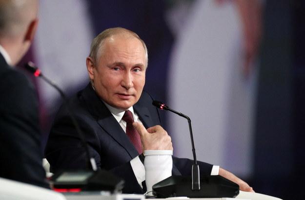 Władminir Putin podczas konferencji prasowej /VLADIMIR SMIRNOV/SPUTNIK/KREMLIN POOL /PAP/EPA