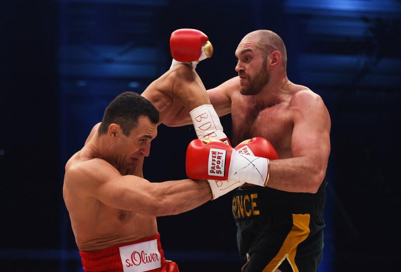 Władymir Kliczko (z lewej) kontra Tyson Fury /Lars Baron /Getty Images