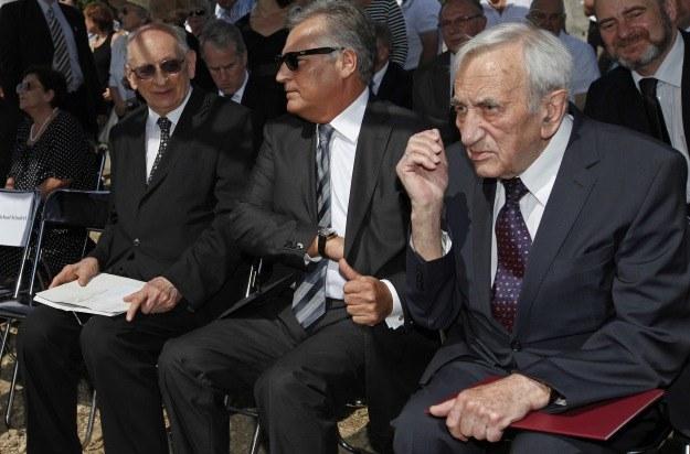 Władysław Bartoszewski, Aleksander Kwaśniewski i Tadeusz Mazowiecki, fot. A. Reszko /PAP