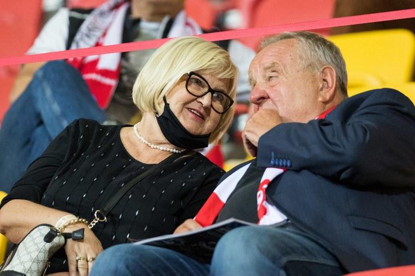 Władysław Komarnicki z żoną /Wojciech Tarchalski /Newspix