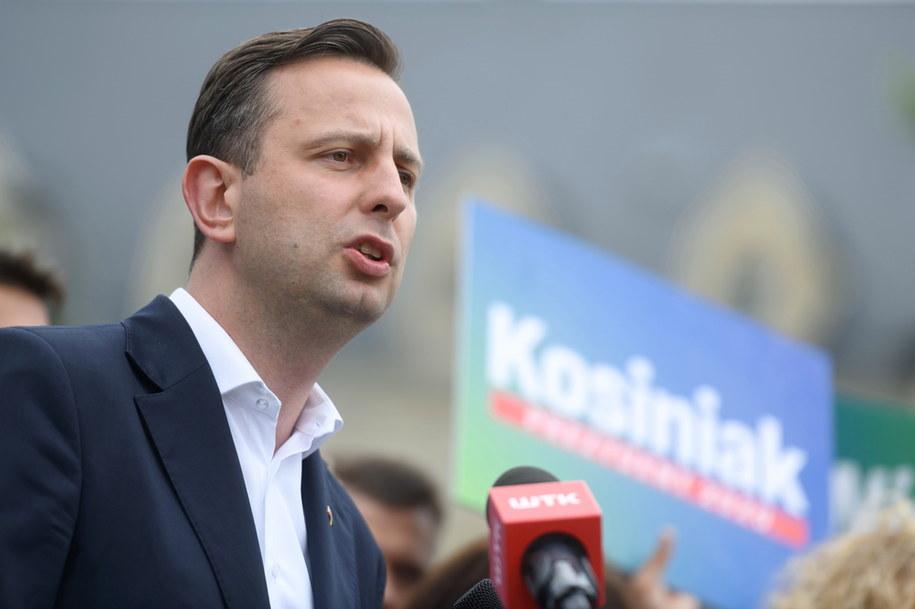 Władysław Kosiniak-Kamysz podczas konferencji prasowej w Poznaniu /Jakub Kaczmarczyk /PAP