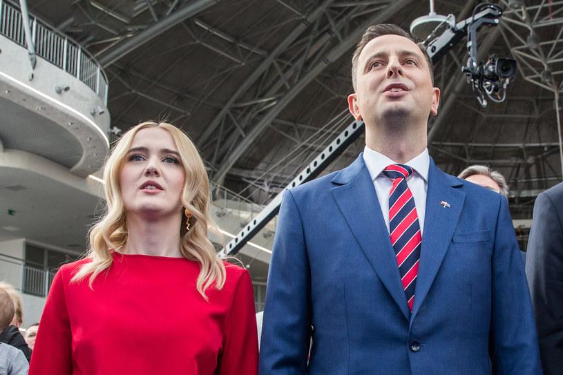 Władysław Kosiniak-Kamysz z żoną /Maciej Goclon /Agencja FORUM