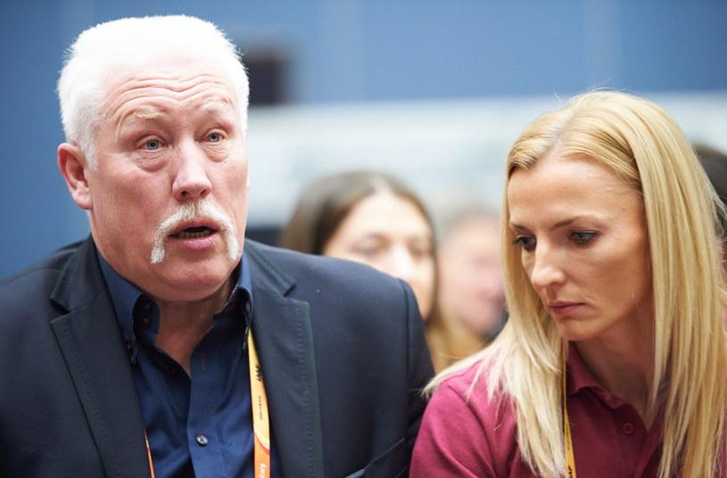 Władysław Kozakiewicz i Anna Rogowska /Fot. Adam Warżawa /PAP