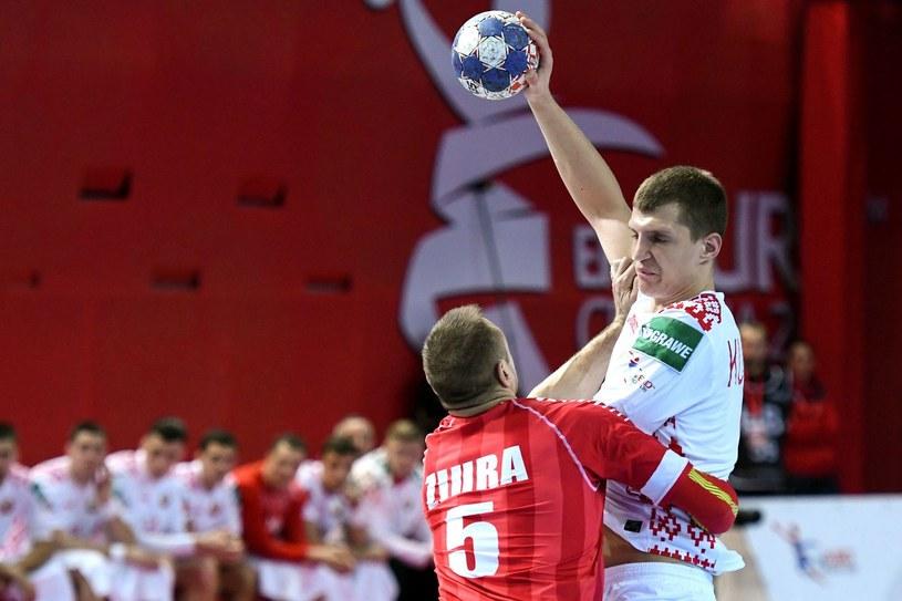 Władysław Kulesz (z piłką) /AFP