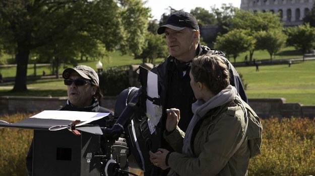 """Władysław Pasikowski na planie filmu """"Jack Strong"""" - fot. Bart Stadnicki /materiały dystrybutora"""