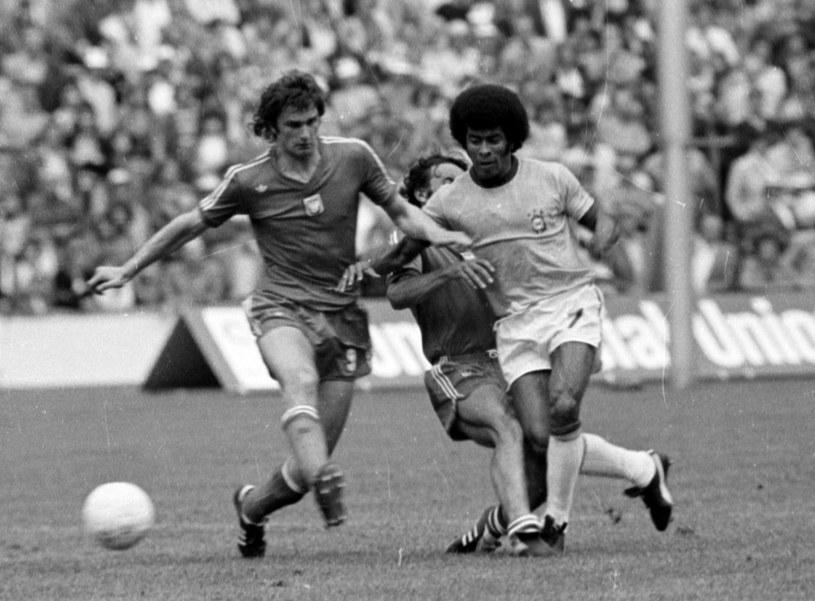 Władysław Żmuda w meczu z Brazylią na MŚ 1974 /Getty Images