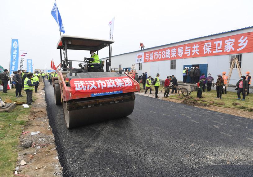 Władze Chin zbudowały w ekspresowym tempie zbudowały w Wuhanie szpitale polowe. /Shepherd Zhou/Utuku/Ropi /Agencja FORUM