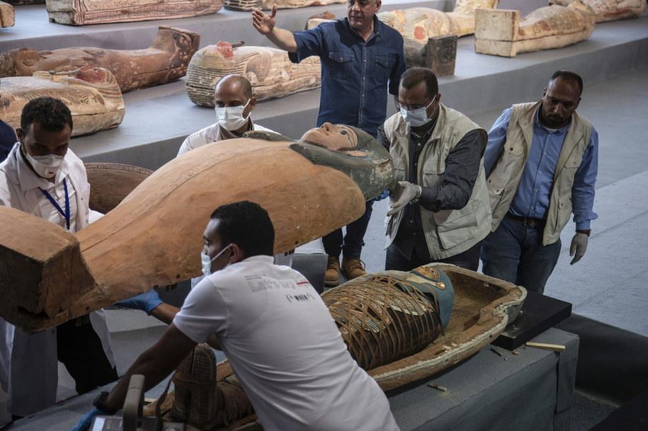 """Władze Egiptu w odkryciu upatrują szansę na """"pobudzenie"""" branży turystycznej /MOHAMED HOSSAM /PAP"""