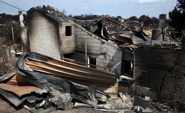 Władze Grecji o potężnych pożarach koło Aten: To mogło być podpalenie