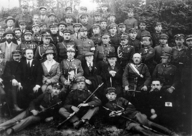 Władze miasta i obrońcy Lwowa (1919) /KARTA /Agencja FORUM
