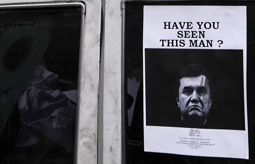 Władze Ukrainy wydały międzynarodowy list gończy za byłym prezydentem Wiktorem Janukowyczem /AFP