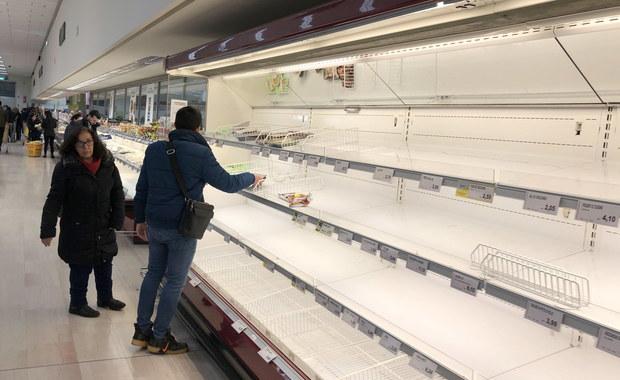 Władze Włoch zapewniają: Nie zabraknie żywności