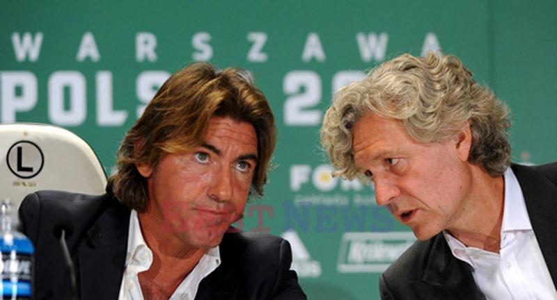 Właściciel Legii Dariusz Mioduski (z prawej) i trener Ricardo Sa Pinto /Tomasz Urbanek /East News