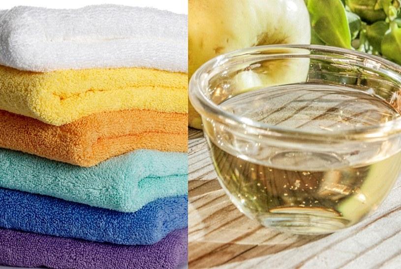 Wlej do prania odrobinę octu, zmiękczy ręczniki /123RF/PICSEL