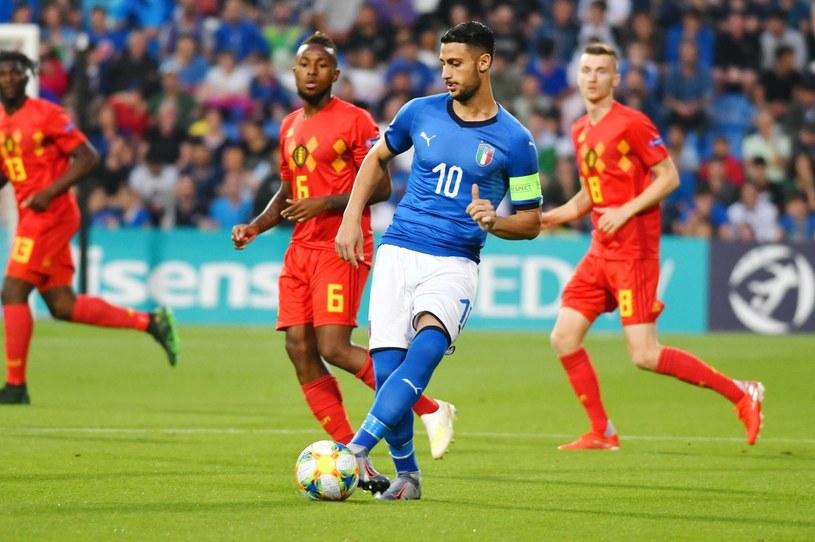 Włoch Rolando Mandragora w meczu z Belgią /PAP/EPA