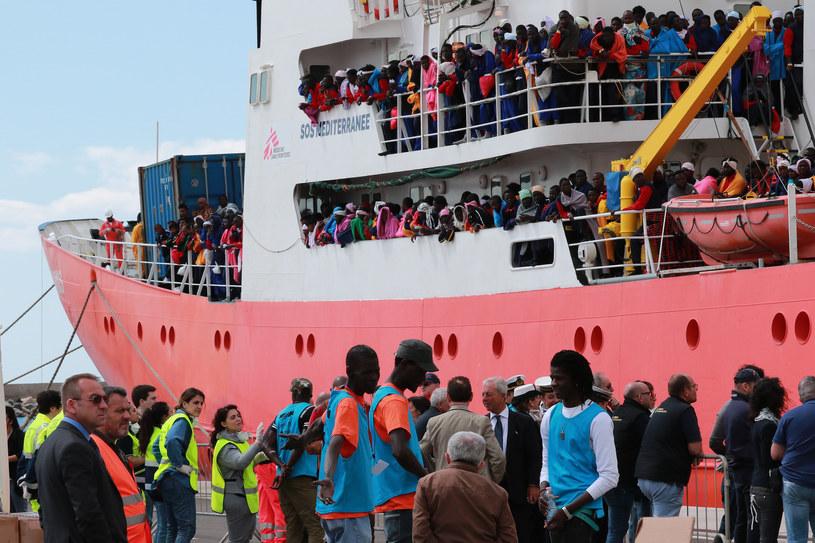 Włochy: Migranci uratowani na Morzu Śródziemnym /AFP