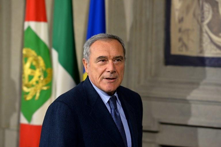 Włochy reprezentował pełniący obowiązki prezydenta, przewodniczący Senatu Pietro Grasso /AFP