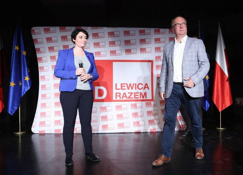 Włodzimierz Czarzasty oraz Anna Maria Żukowska /Mariusz Grzelak/REPORTER /Reporter