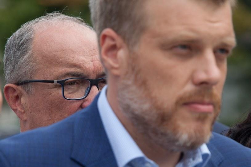 Włodzimierz Czarzasty (SLD) i Adrian Zandberg (Razem) /Stefan Maszewski /Reporter