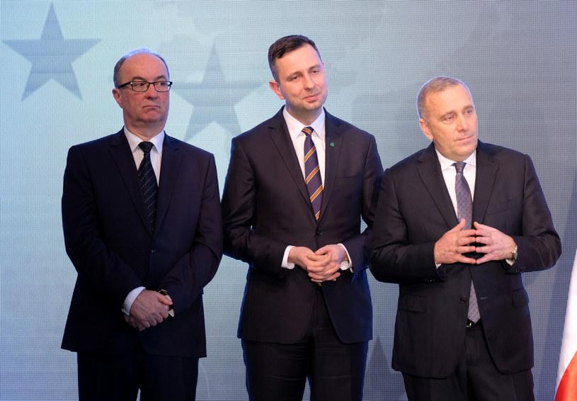 Włodzimierz Czarzasty, Władysław Kosiniak-Kamysz i Grzegorz Schetyna /Mateusz Grochocki/ /East News