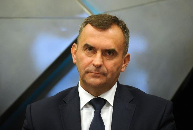 Włodzimierz Karpiński, minister skarbu. Fot. Mieczysław Włodarski /Reporter