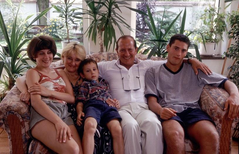 Włodzimierz Szaranowicz z rodziną w 2005 roku /Michał Hetmanek /Reporter