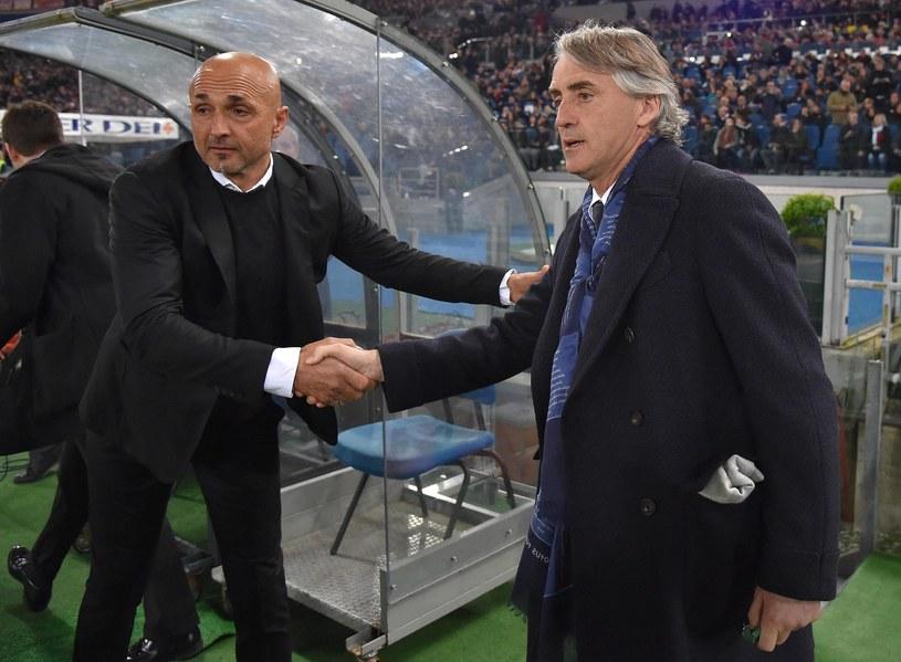 Włoska prasa przed spotkaniem awizowała mecz Romy z Interem jako potyczkę wspaniałych rodzimych trenerów - Luciano Spallettiego (z lewej) i Roberto Manciniego (z prawej) /PAP/EPA