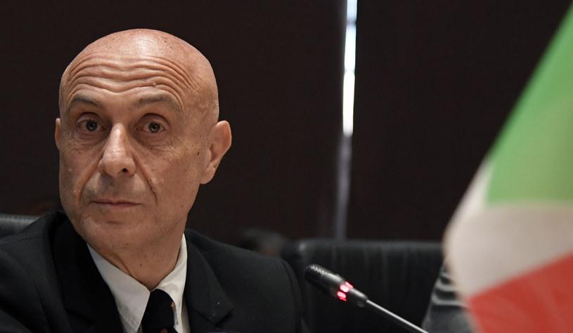 Włoski minister spraw zagranicznych Marco Minniti /TIZIANA FABI /AFP