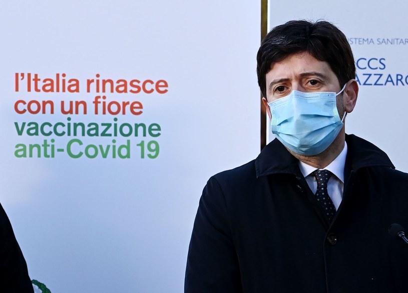Włoski minister zdrowia Roberto Speranza /ANDREAS SOLARO /AFP