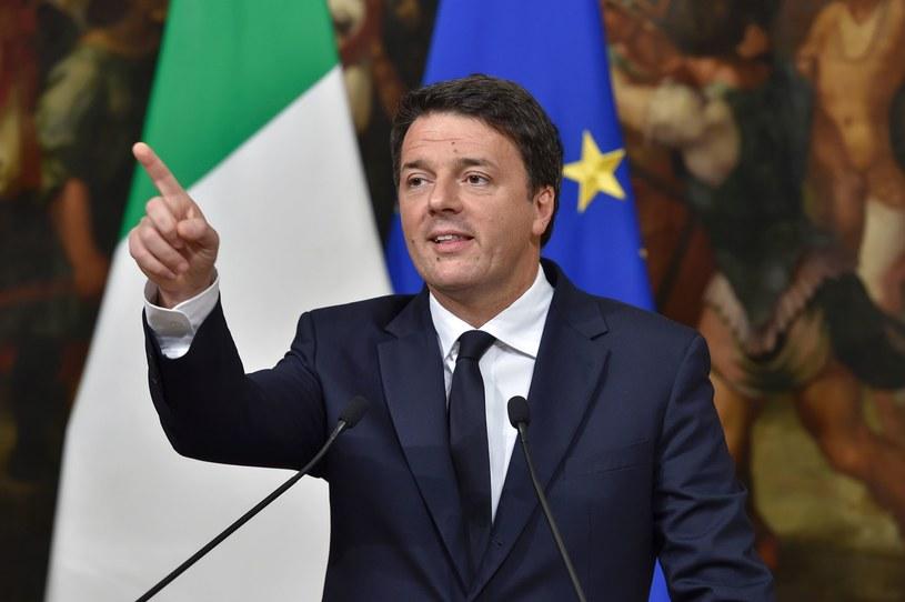 Włoski premier Matteo Renzi /AFP