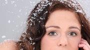 Włosy piękne zimą