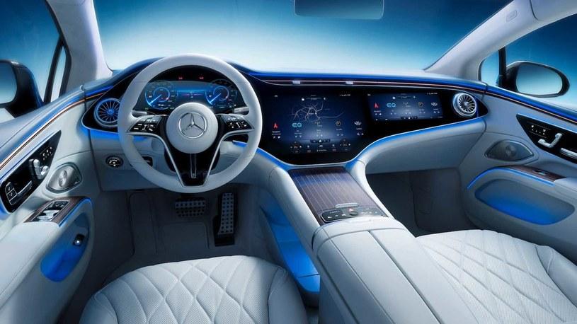 Wnętrze Mercedesa EQS /