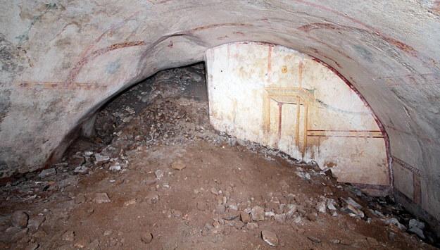 Wnętrze nowo odkrytej sali w Złotym Domu Nerona /FFICIO STAMPA PARCO ARCHEOLOGICO DEL COLOSSEO /PAP/EPA