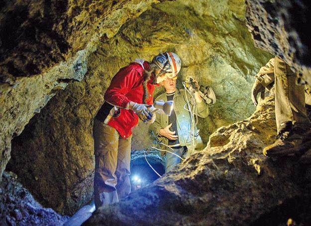 Wnętrze odkrytej kopalni srebra w Srebrnej Górze /  /Odkrywca