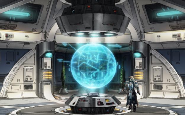 Wnętrze statku kosmicznego należącego do rycerzy Jedi /Informacja prasowa