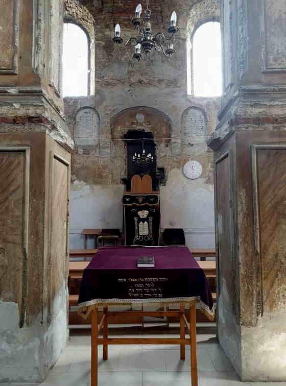 Wnętrze synagogi w Rymanowie /Katarzyna Pawlicka /INTERIA.PL