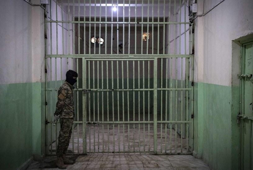 Wnętrze syryjskiego więzienia. /FADEL SENNA / AFP /AFP