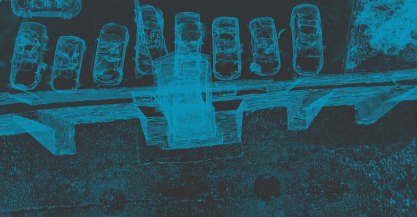 Wnętrze wieży wodociągowej oraz południowe mury miejskie w Grudziądzu. Widok x-ray - zdjęcie pochodzi ze strony: www.archeonline.ug.edu.pl /materiały źródłowe