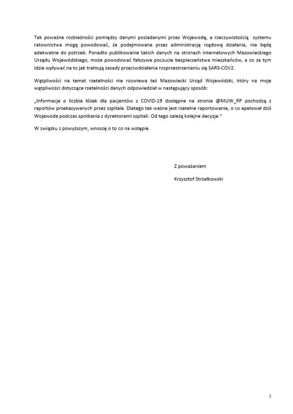 Wniosek do NIK /archiwum prywatne