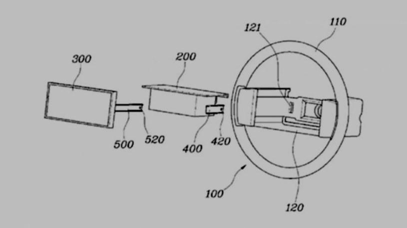 Wniosek patentowy Hyundaia odnośnie wyświetlacza w kierownicy /Hyundai /materiały prasowe
