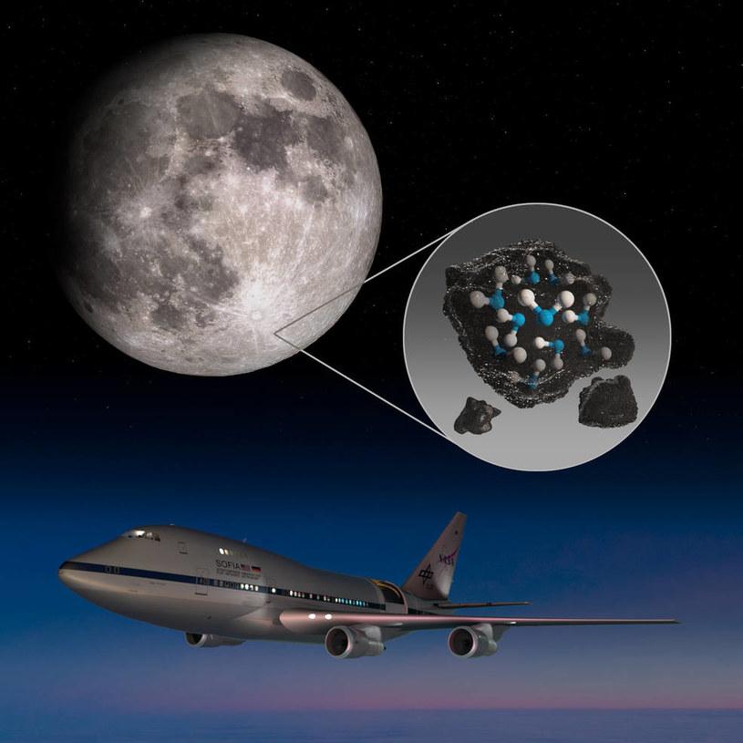 Woda na Księżycu potwierdzona przez latające obserwatorium SOFIA /NASA