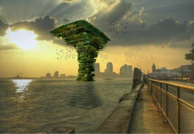 Wodne drzewa to budowle stworzone z myślą o wszystkich organizmach żywych.   Fot. Waterstudio /Internet