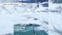 Wodospad Niagara skuty lodem