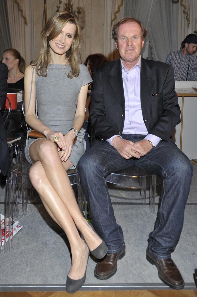 Wojciech Fibak ze swoją żoną Olgą, z którą jest w trakcie rozwodu /Kurnikowski /AKPA