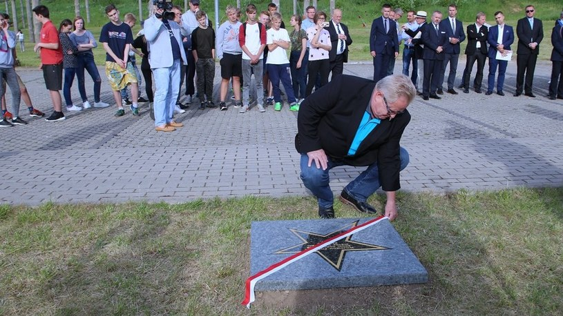Wojciech Fortuna w Alei Olimpijczyków i Mistrzów Sportu /materiały prasowe /