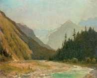 Wojciech Gerson, Cmentarz w górach, 1894 /Encyklopedia Internautica