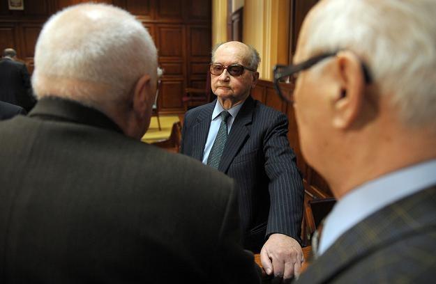 Wojciech Jaruzelski podczas procesu sprawców stanu wojennego /AFP